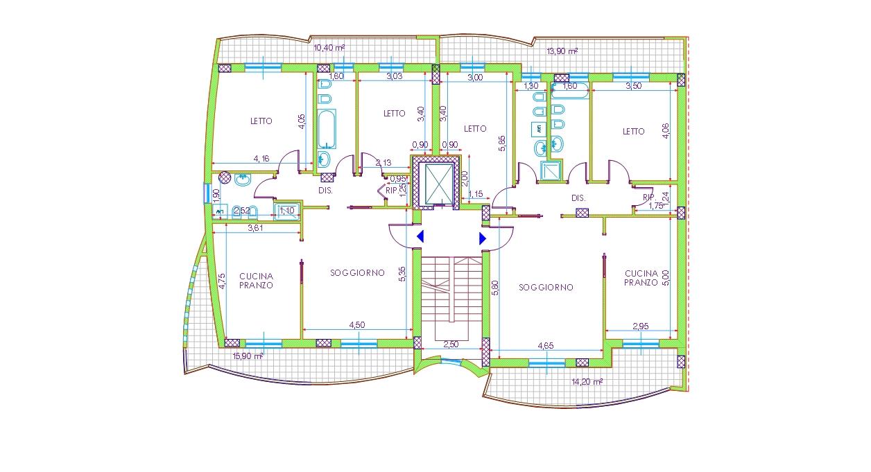 Appartamenti piani 1 2 3 4 for Piani di progettazione di appartamenti